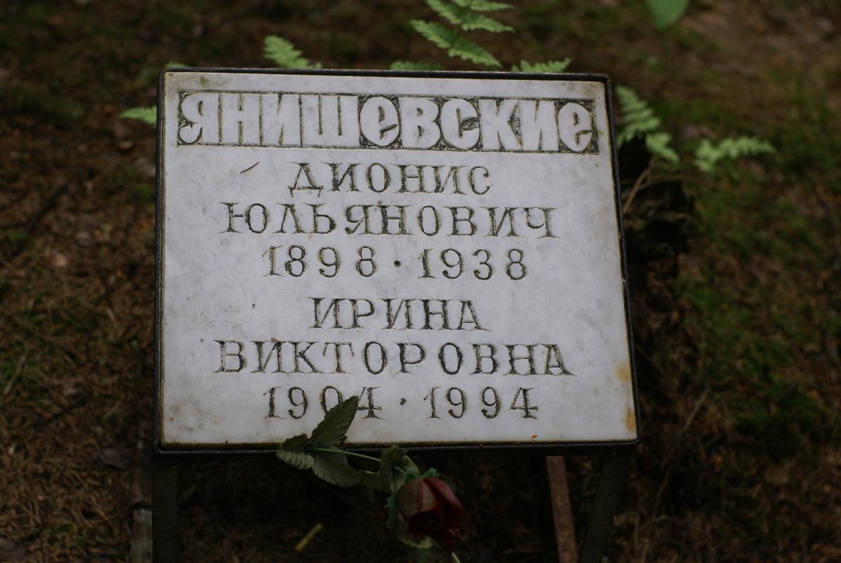 Памятная табличка Д. Ю. и И. В. Янишевским. Фото 25.08.2007