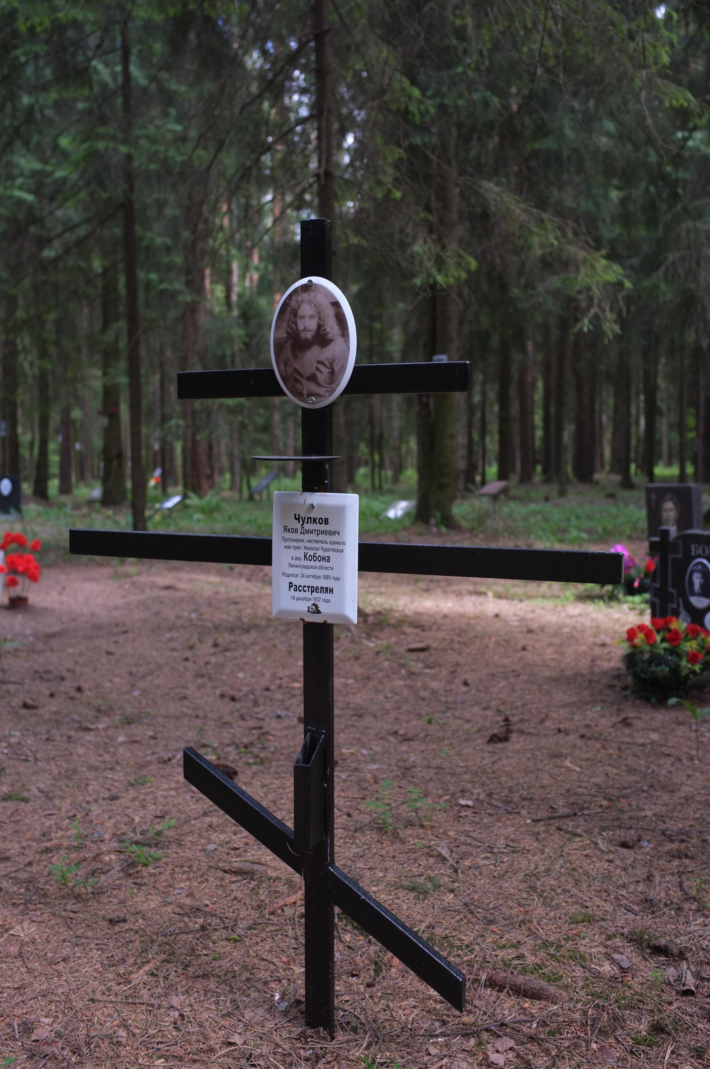 Памятный крест Я. Д. Чулкову. Фото 09.06.2018