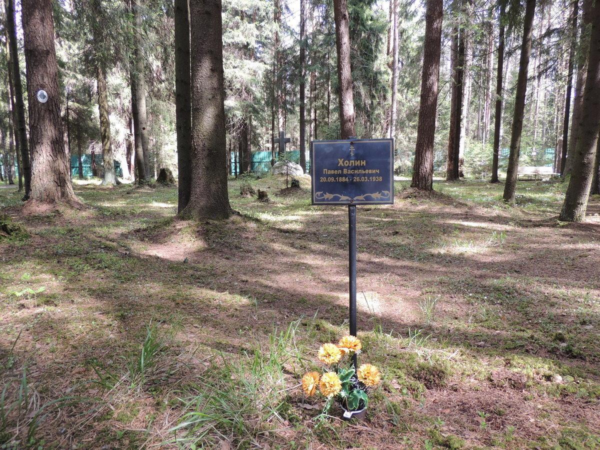 Памятная табличка П. В. Холину. Фото 18.05.2017