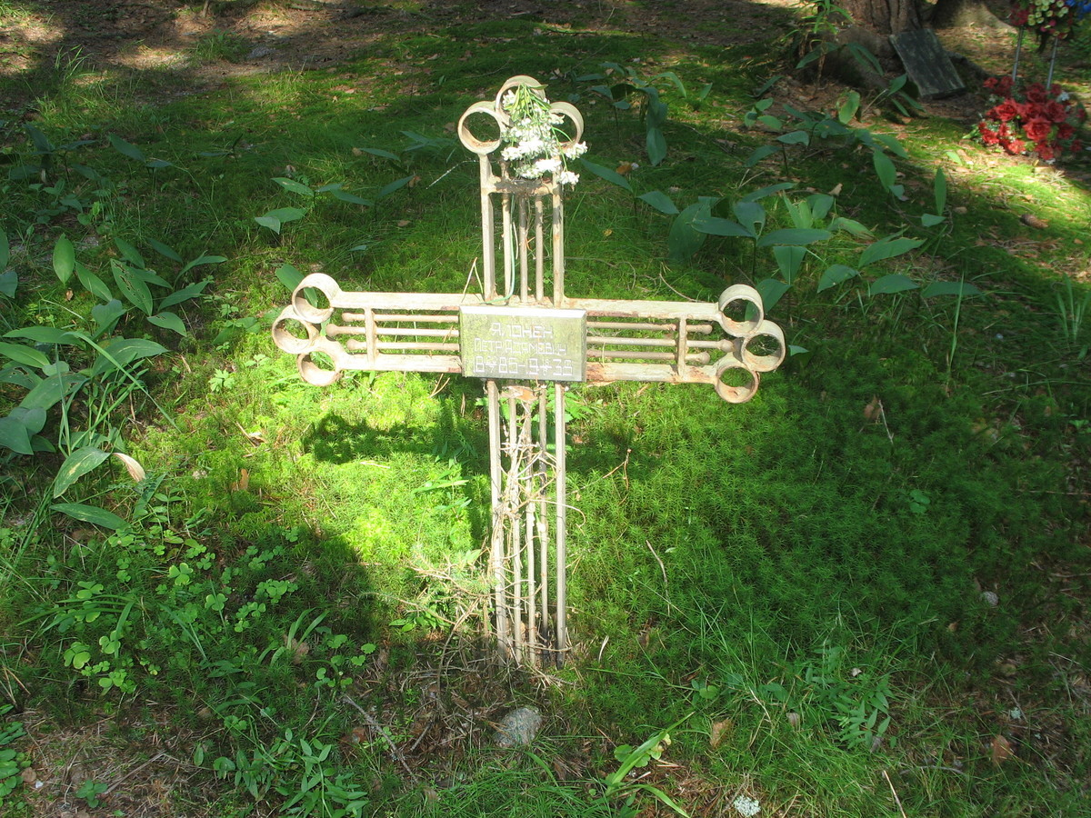 Памятный крест П. А. Ялонену. Фото 23.08.2007