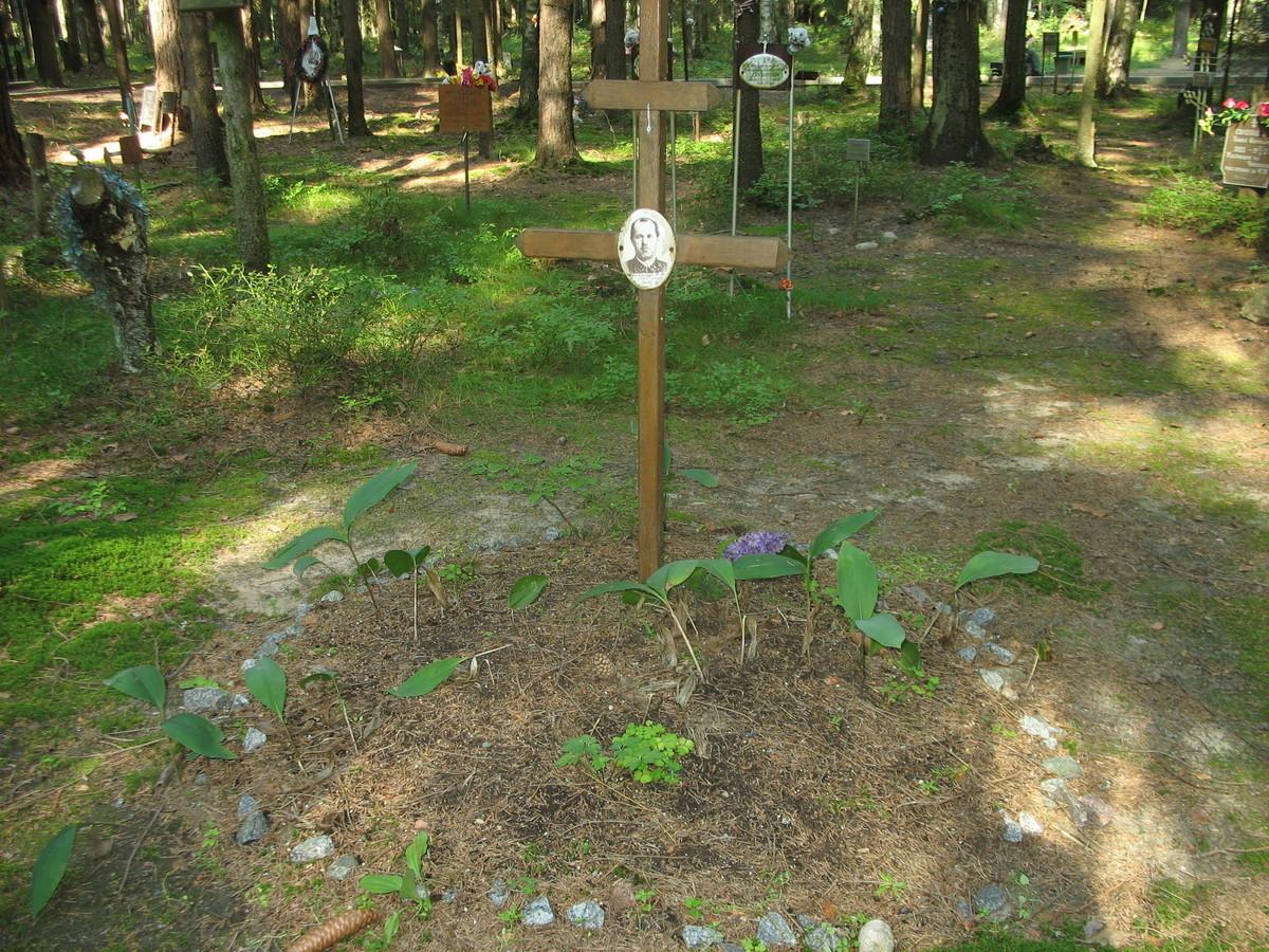 Памятный крест П. К. Шамшуру. Фото 23.08.2007