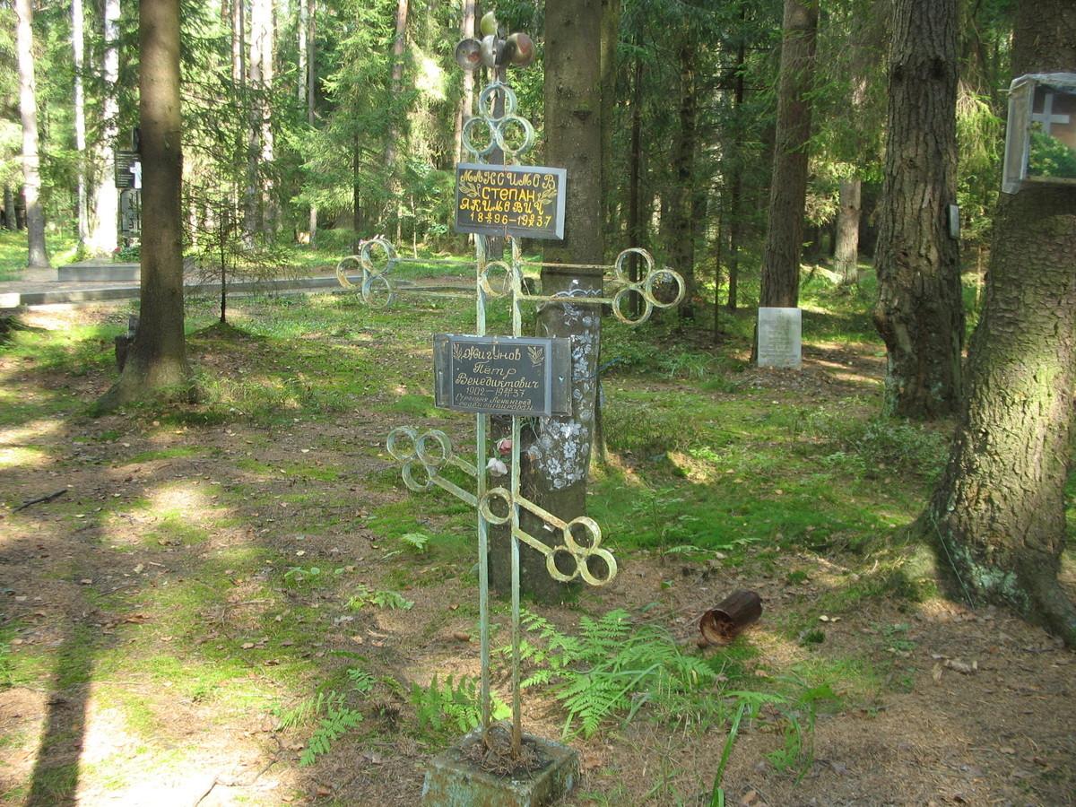 Памятный крест С. Я.Максимову и П. В. Жигунову. Фото 23.08.2007