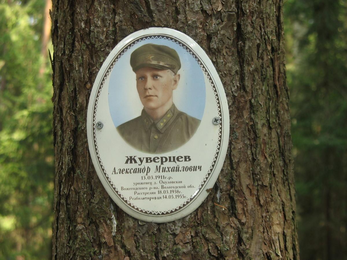 Памятная табличка А. М. Жуверцеву. Фото 23.08.2007