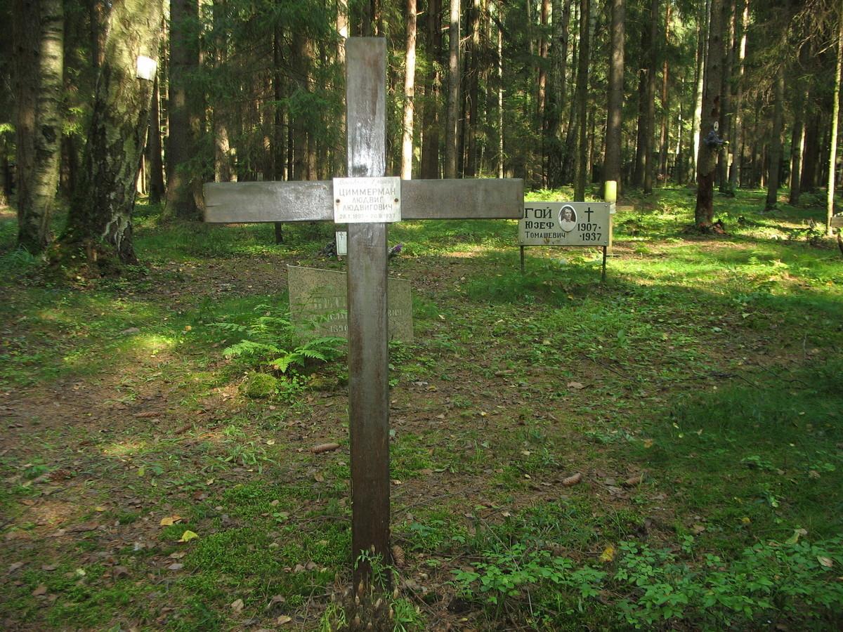 Памятный крест Л. Л. Циммерману. Фото 23.08.2007