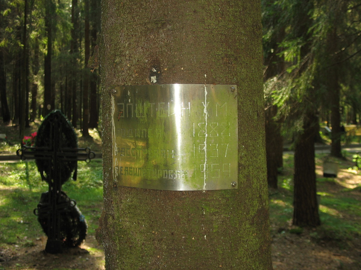Памятная табличка Х. М. Эпштейну. Фото 23.08.2007