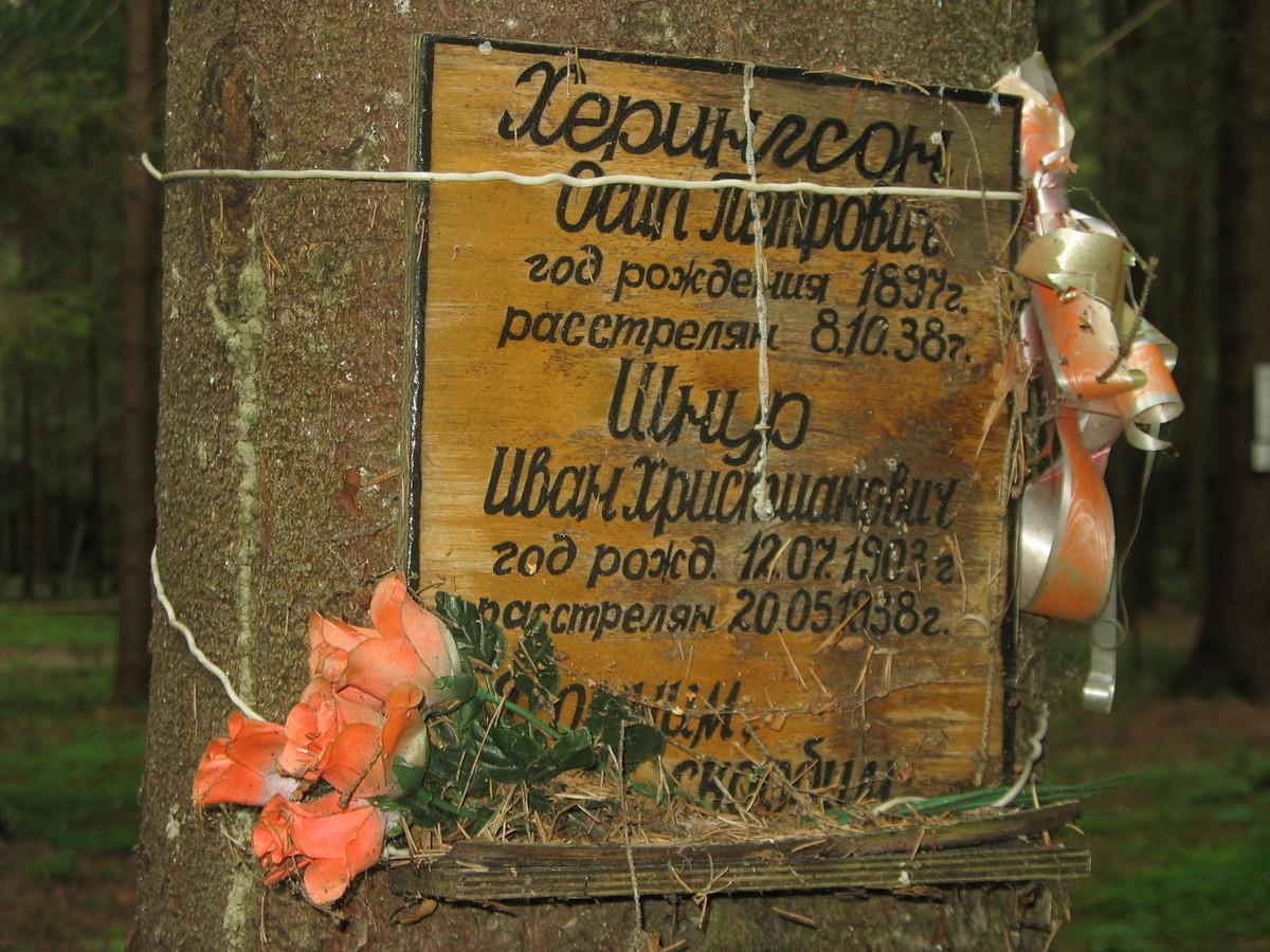 Памятная табличка О. П. Хериксону и И. К. Шнуру. Фото 02.06.2012