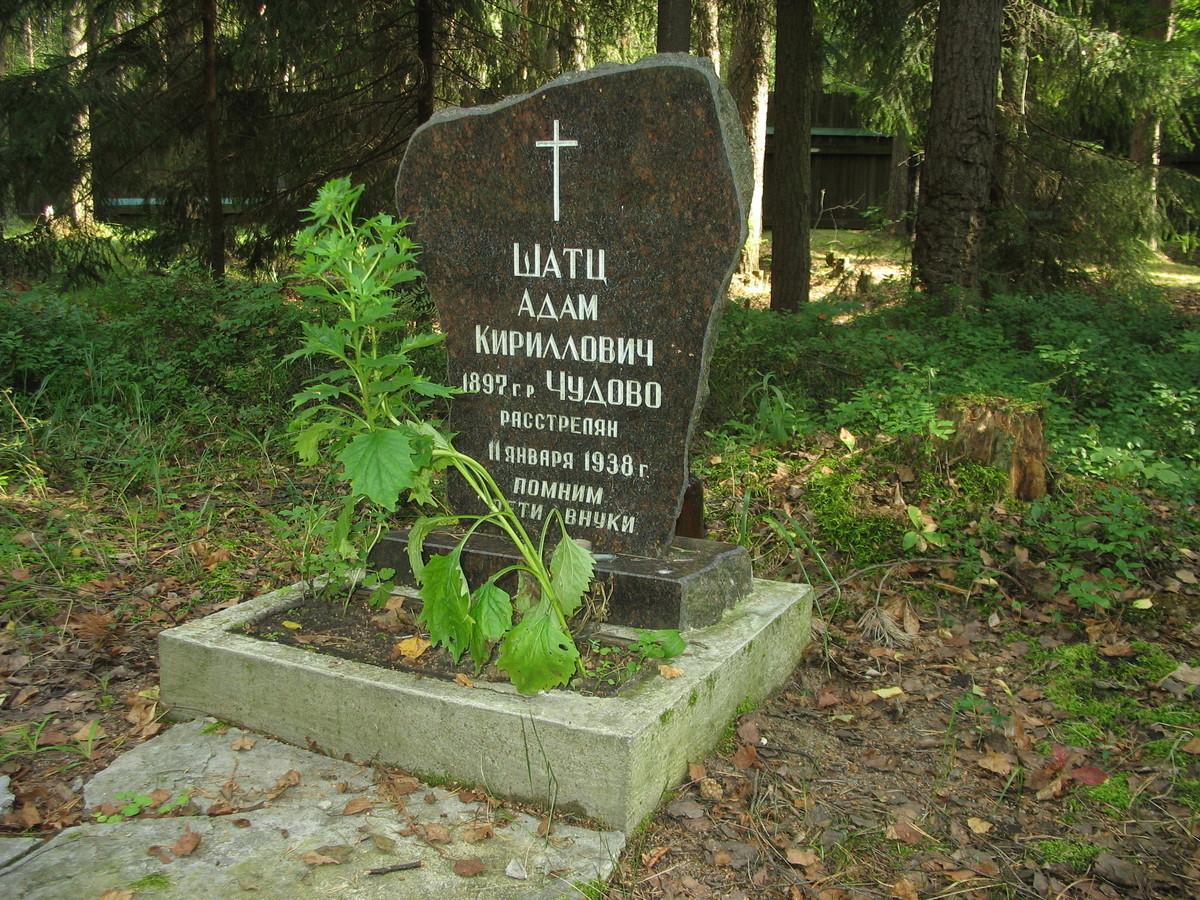 Символическое надгробие А. К. Шатца. Фото 23.08.2007