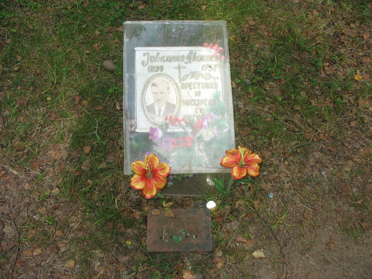 Памятный знак И. П. Агонену. Фото 23.08.2007