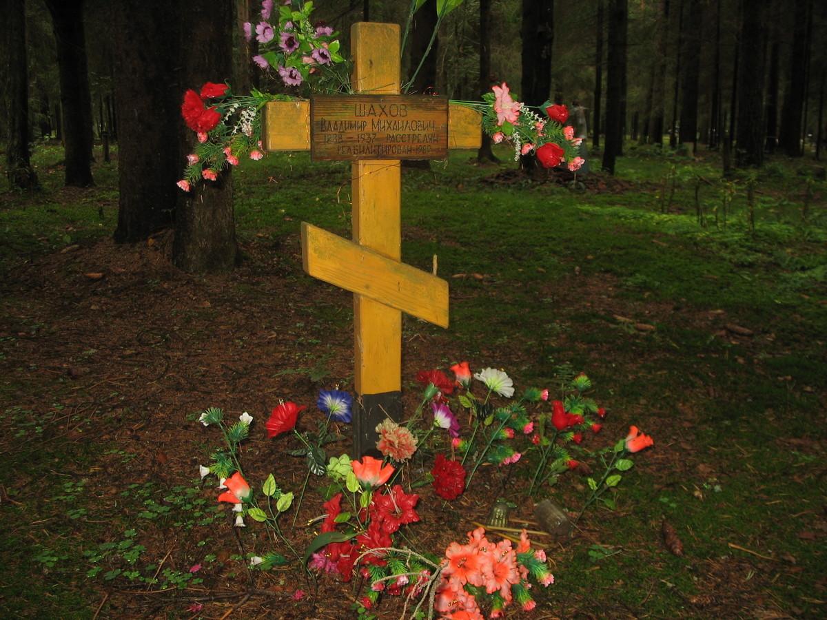 Памятный крест В. М. Шахову. Фото 23.08.2007