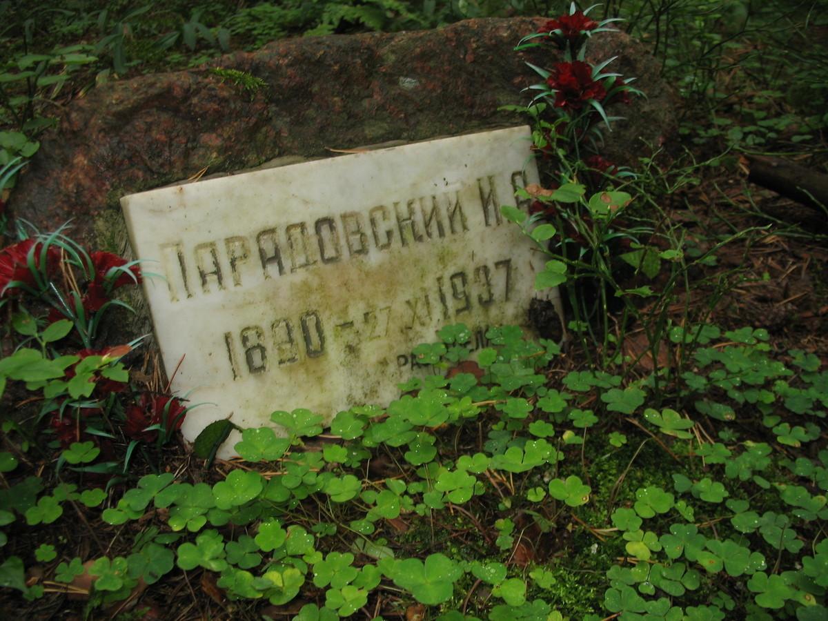 Памятная табличка И. А. Парадовскому. Фото 25.08.2007