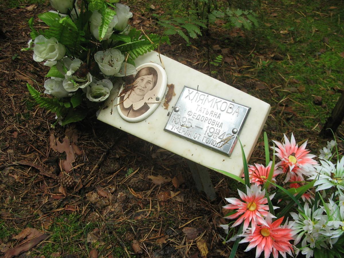 Памятная табличка Т. Ф. Хлямковой. Фото 25.08.2007