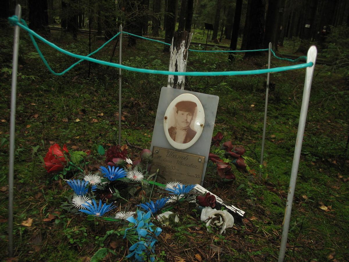 Символическое надгробие М. И. Иванова. Фото 25.08.2007