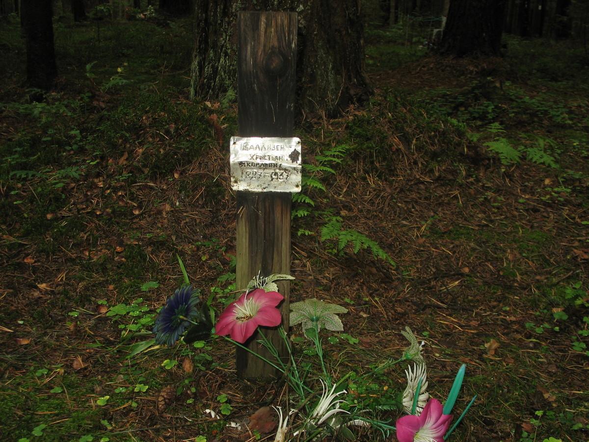 Памятный знак Х. Я. Вализеру. Фото 23.08.2007