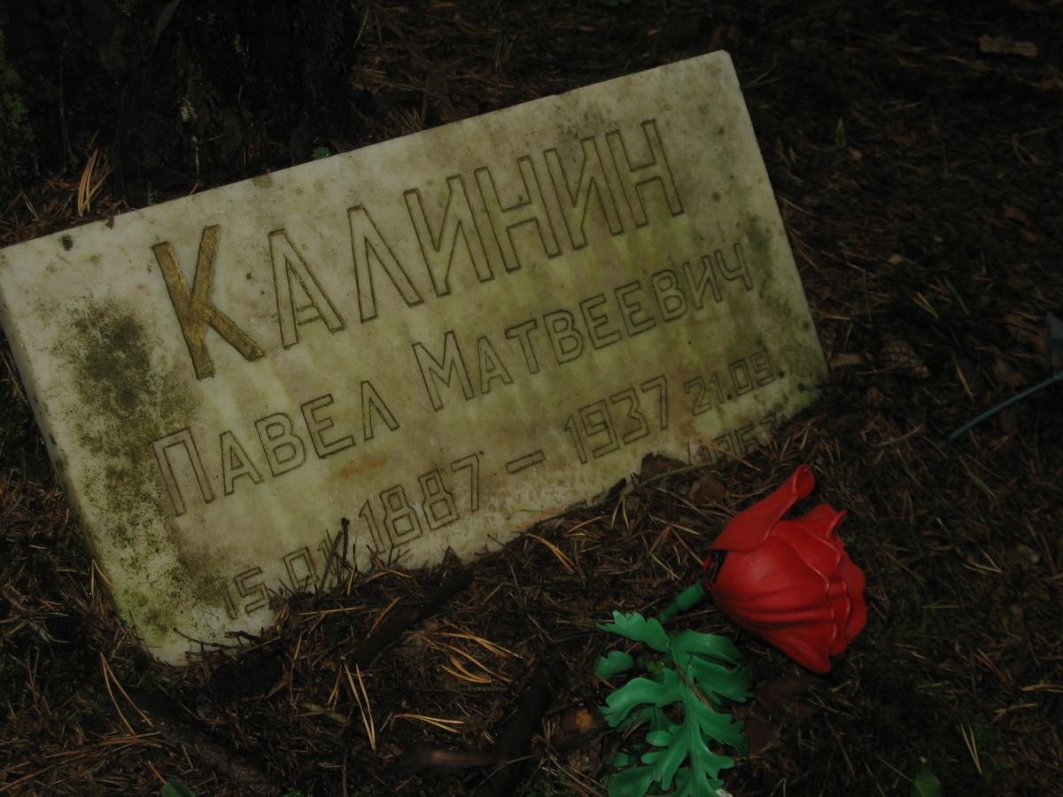Памятная табличка П. М. Калинину. Фото 25.08.2007