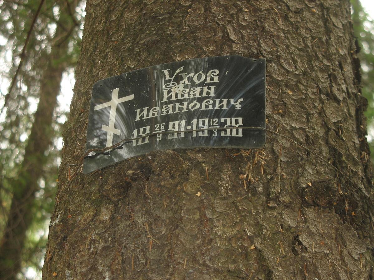 Памятная табличка И. И. Ухову. Фото 25.08.2007