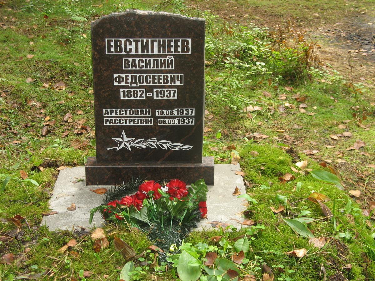 Символическое надгробие В. Ф. Евстигнеева. Фото 25.08.2007