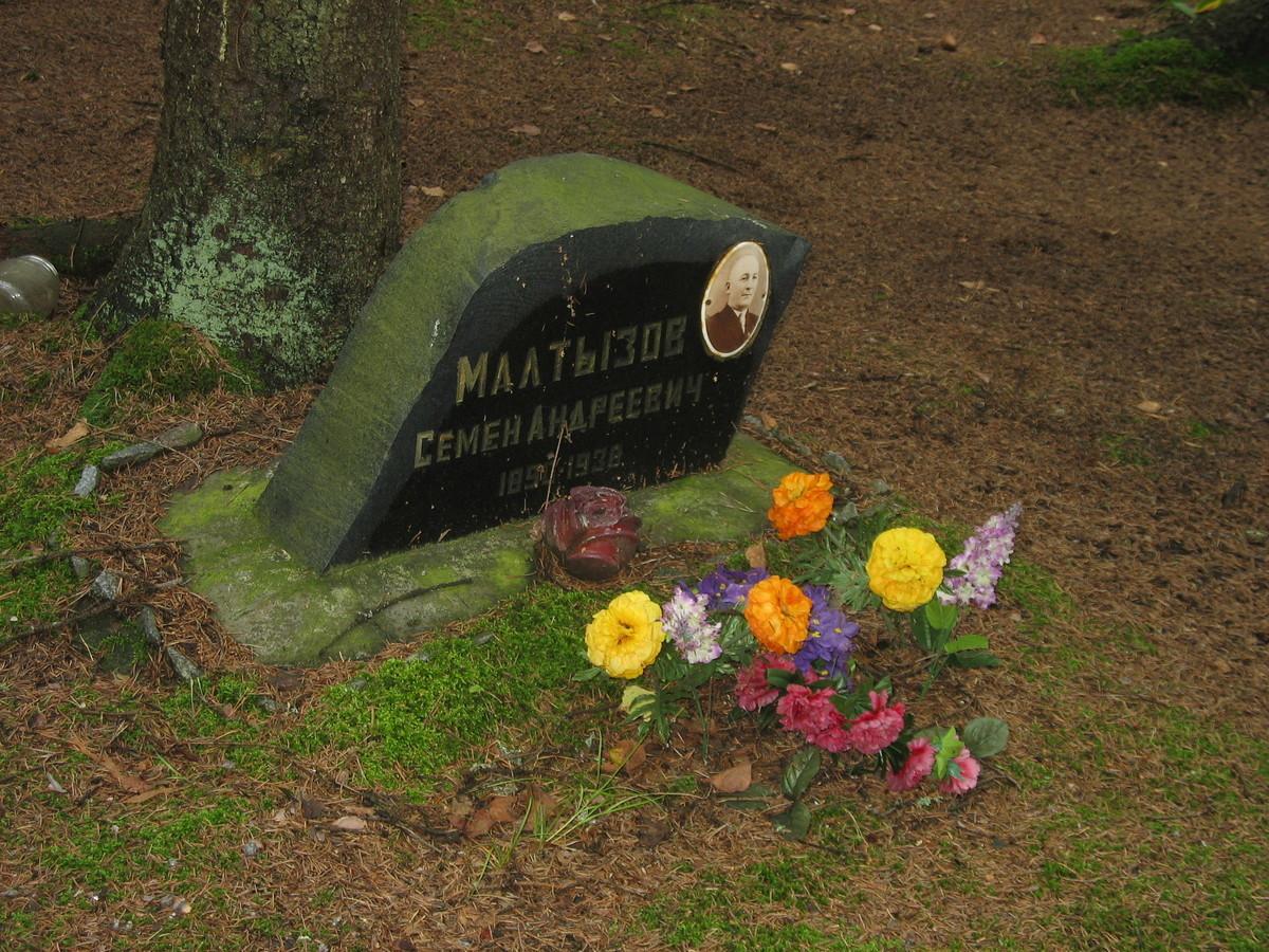 Символическое надгробие С. А. Малтызова. Фото 25.08.2007