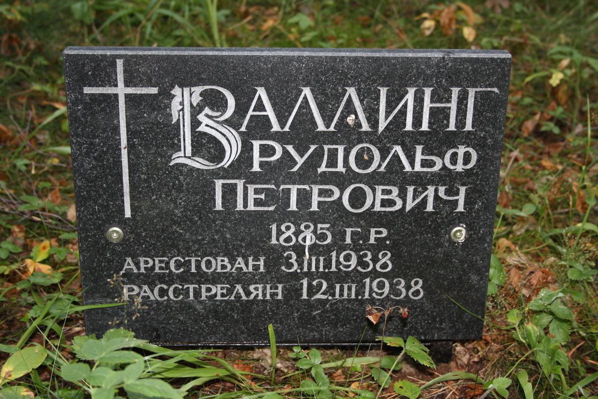 Памятный знак Р. П. Валлингу. Фото 20.07.2010