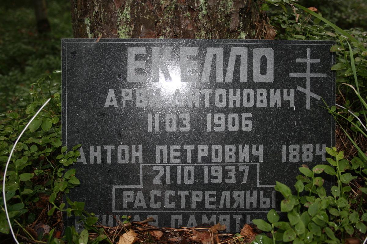 Памятная табличка А. А. и А. П. Еккело. Фото 15.08.2010