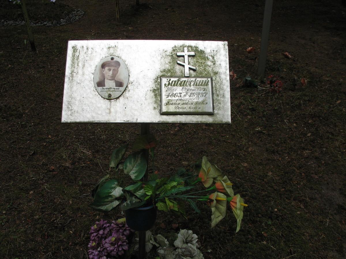 Памятная табличка И. С. Завадскому. Фото 16.06.2007