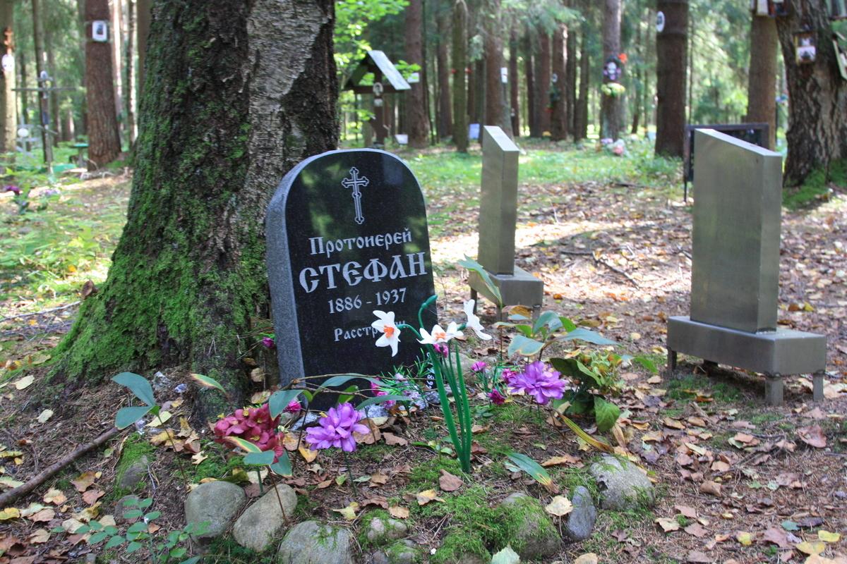 Символическое надгробие С. И. Черняева. Фото 02.09.2017