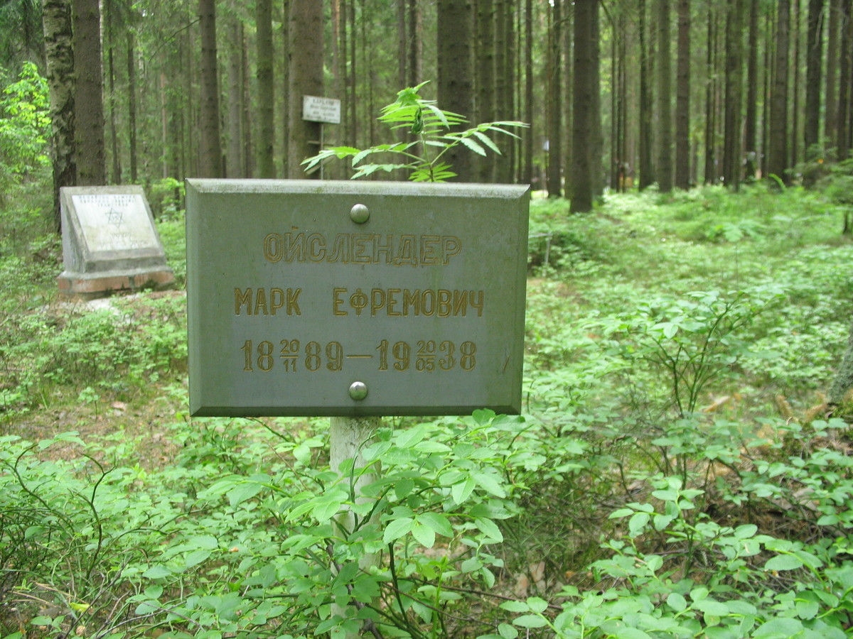 Памятная табличка М. Е. Ойслендеру. Фото 15.06.2007