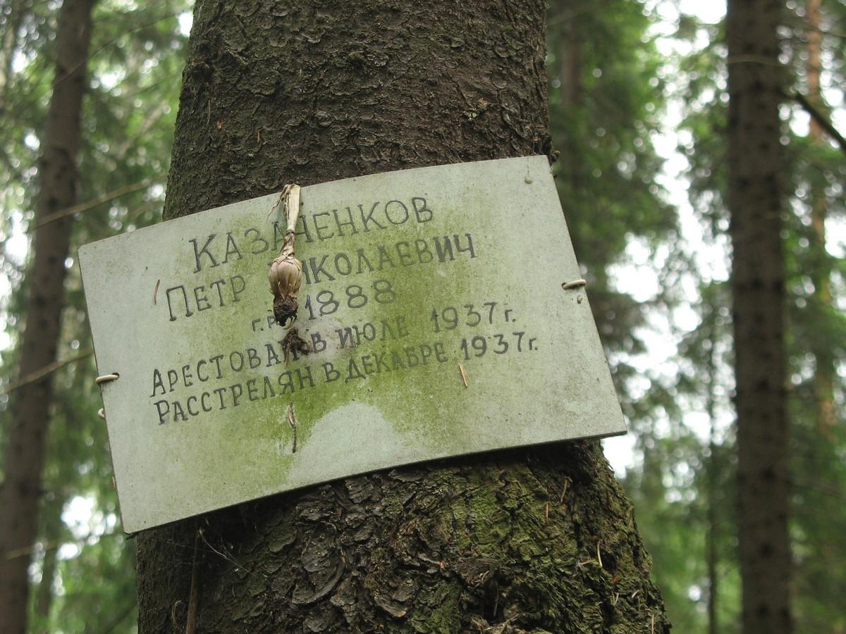 Памятная табличка П. Н. Казаченкову. Фото 15.06.2007