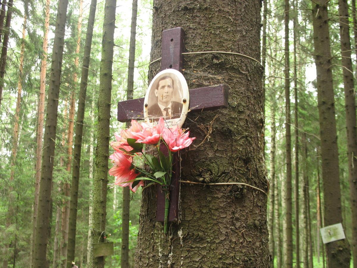 Памятный крест А. К. Юрчуку. Фото 15.06.2007