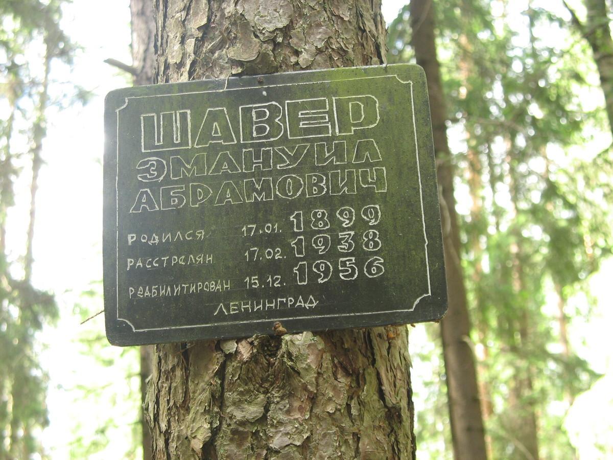 Памятная табличка Э. А. Шаверу. Фото 15.06.2007