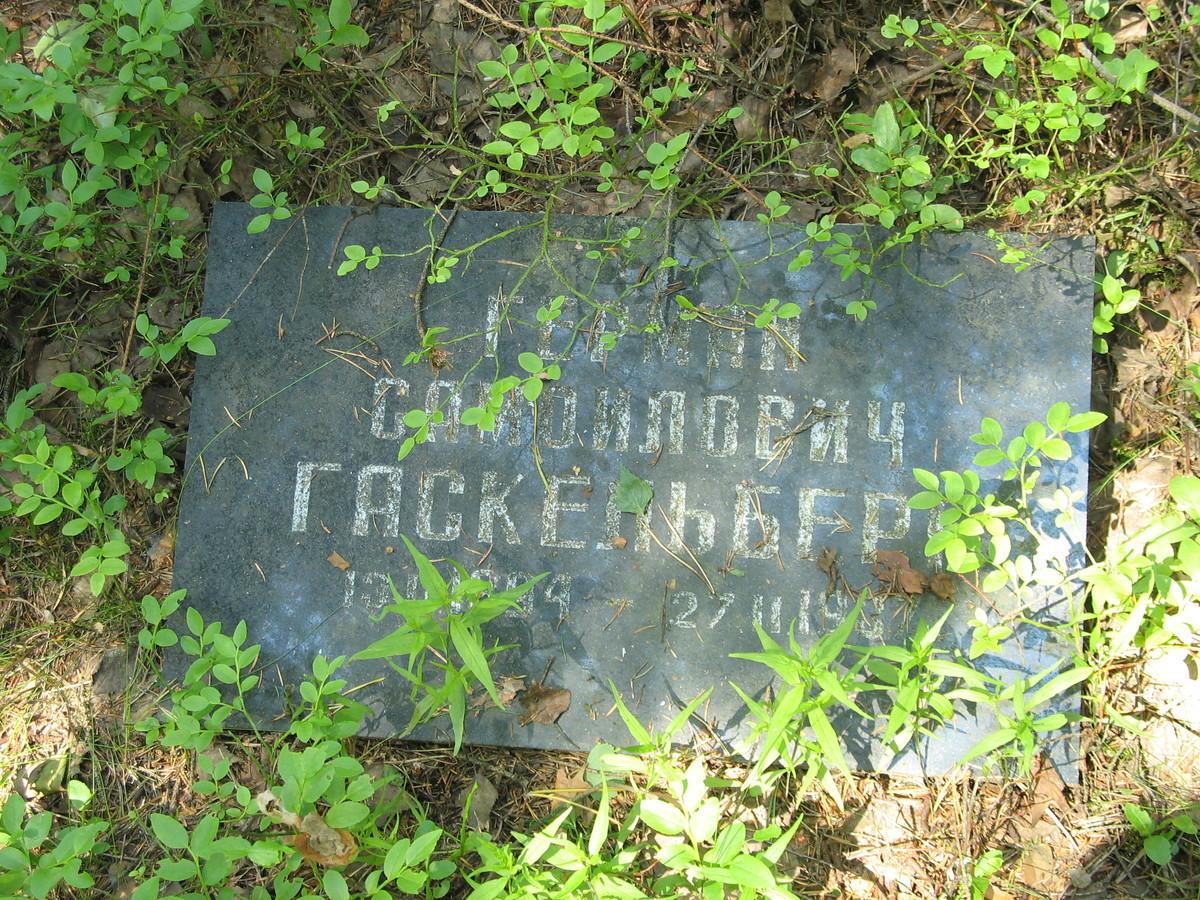 Символическое надгробие Г. С. Гаскельберга. Фото 16.06.2007
