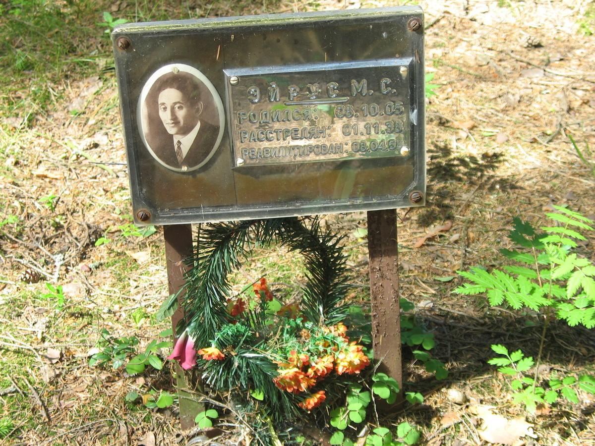 Символическое надгробие М. С. Эйруса. Фото 16.06.2007