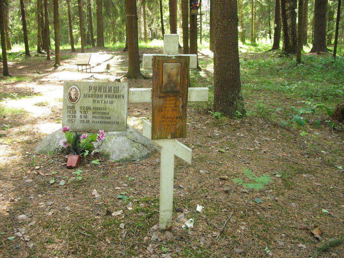 Памятный крест М. В. Янушевскому и А. Э. Браунеру. Фото 16.06.2007