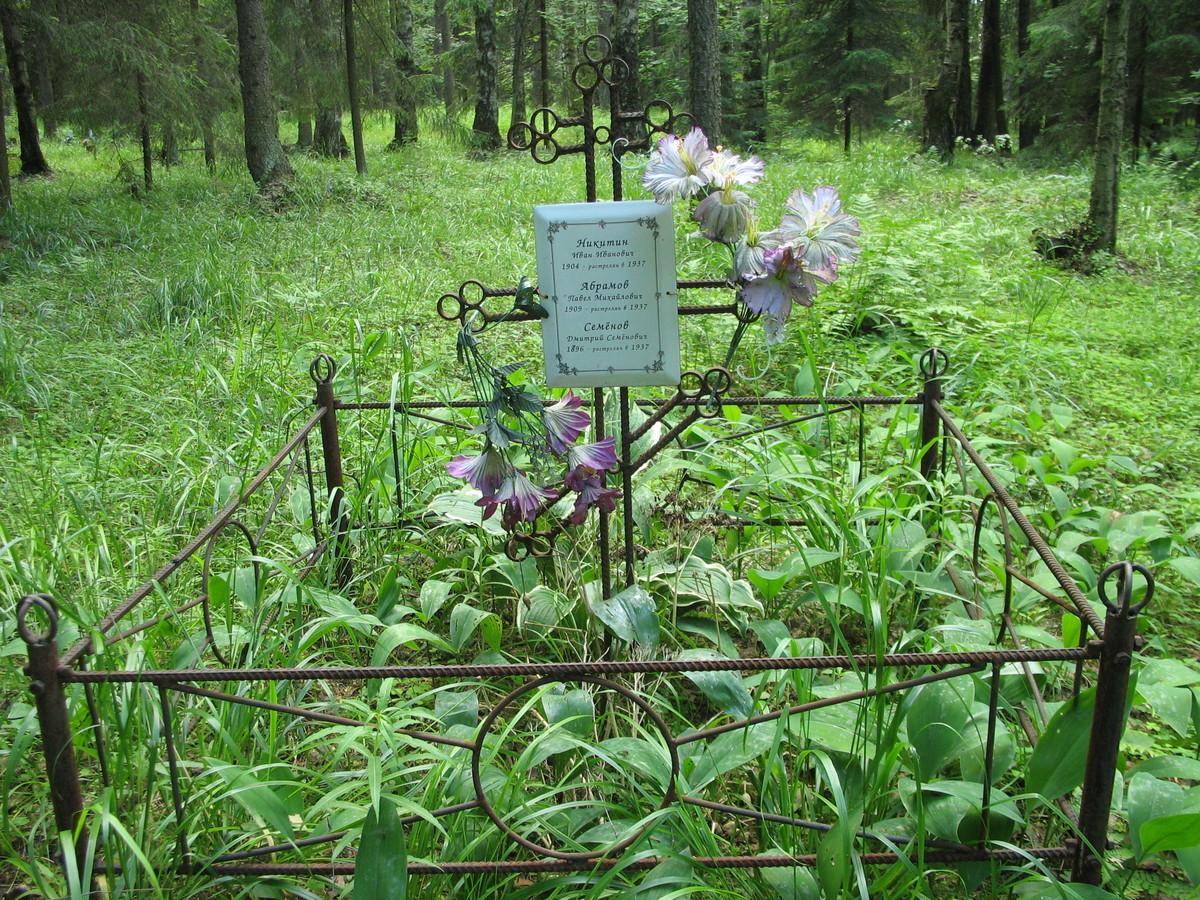 Символическое надгробие И. И. Никитина, П. М. Абрамова и Д. С. Семенова. Фото 16.06.2007