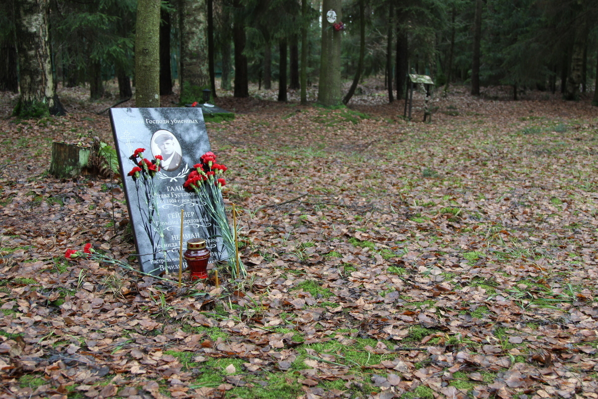 Памятный знак Г. Г. Гаану, Г. К. Гейзлеру, Л. Р. Нейману. Фото 12.11.2013