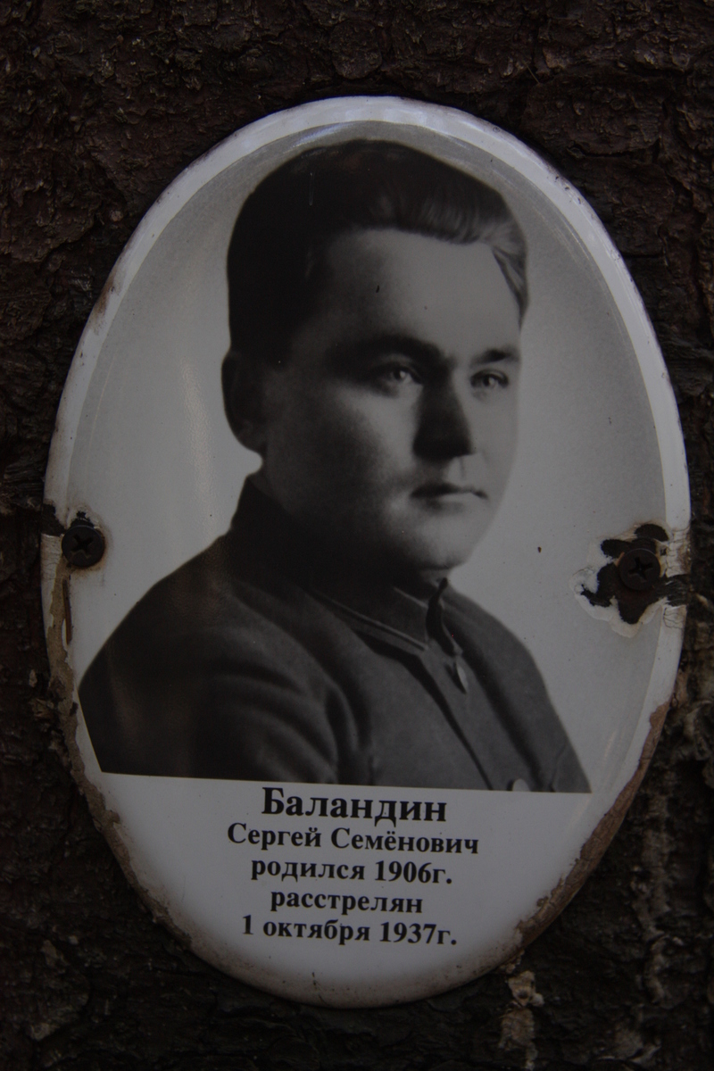 Памятная табличка С. С. Баландину. Фото 18.05.2017