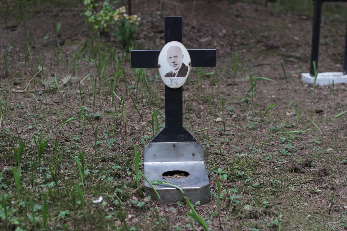 Символическое надгробие О. С. Юлку. Фото 27.05.2017