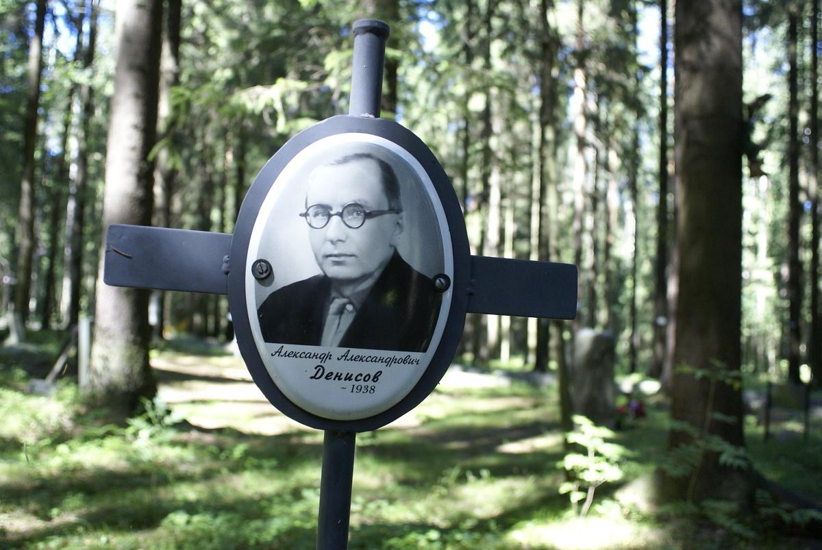 Памятный крест А. А. Денисову. Фото 20.07.2010