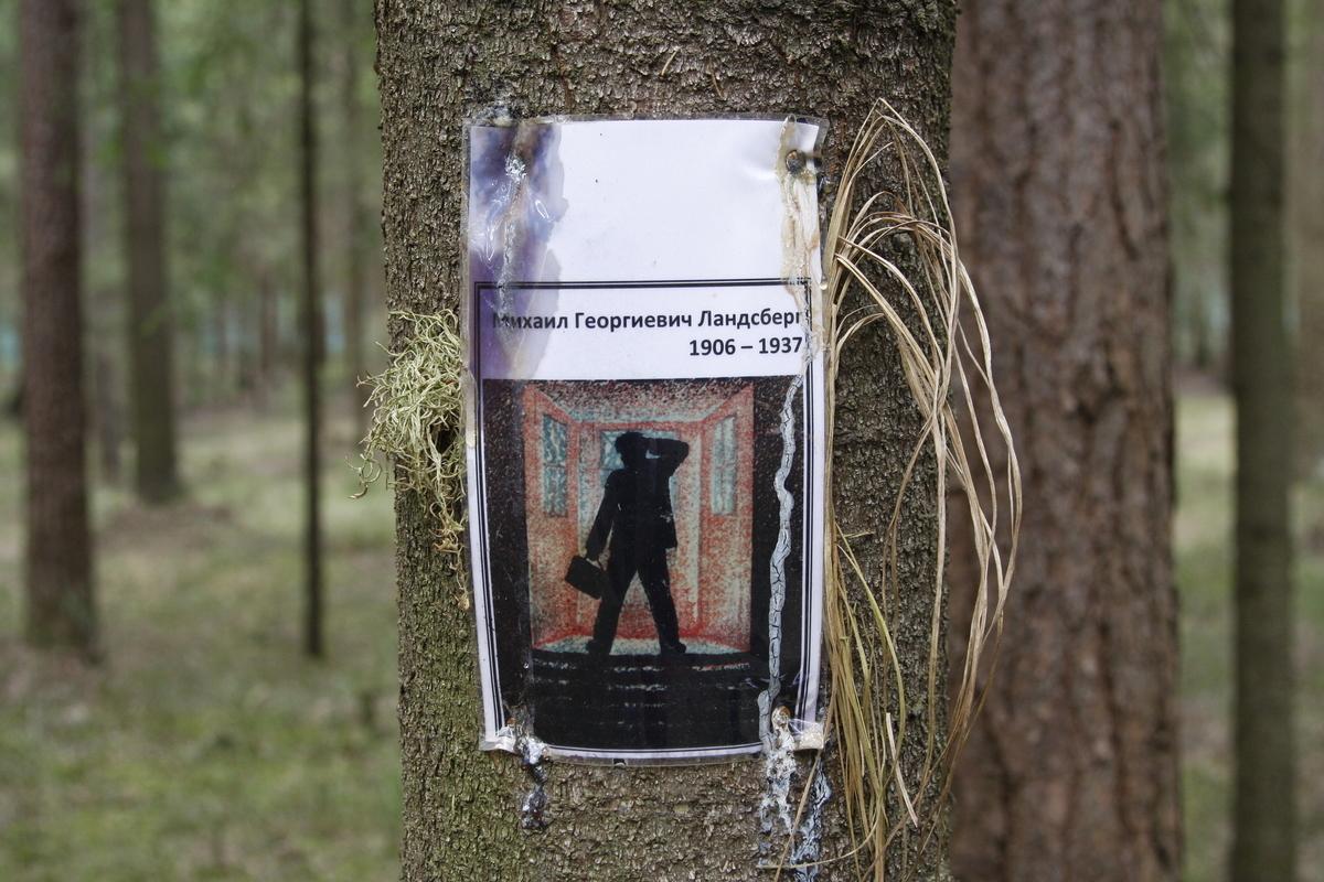 Памятный знак М. Г. Ландсбергу. Фото 18.05.2017