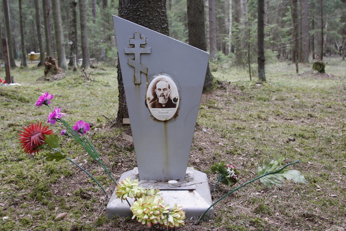 Символическое надгробие Н. А. Чернова. Фото 18.05.2017