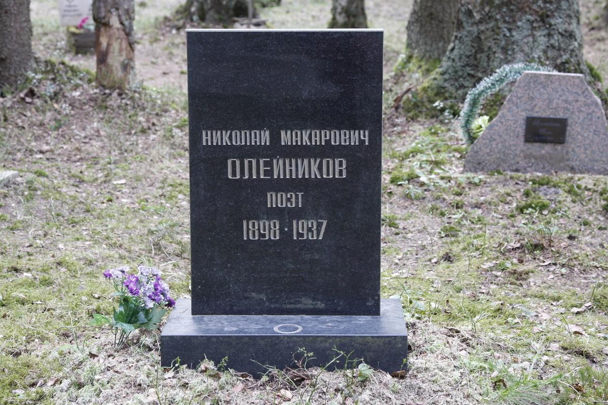 Символическое надгробие Н. М. Олейникова. Фото 18.05.2017