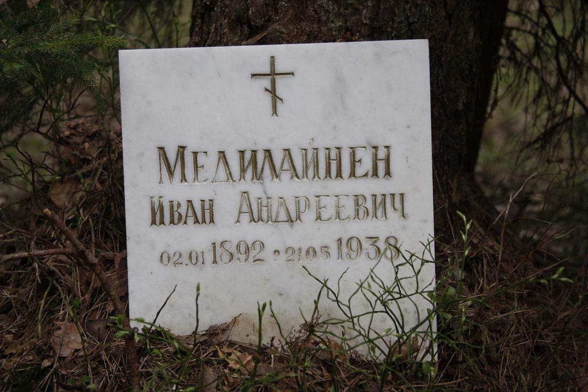 Памятный знак И. А. Маделайнену. Фото 18.05.2017