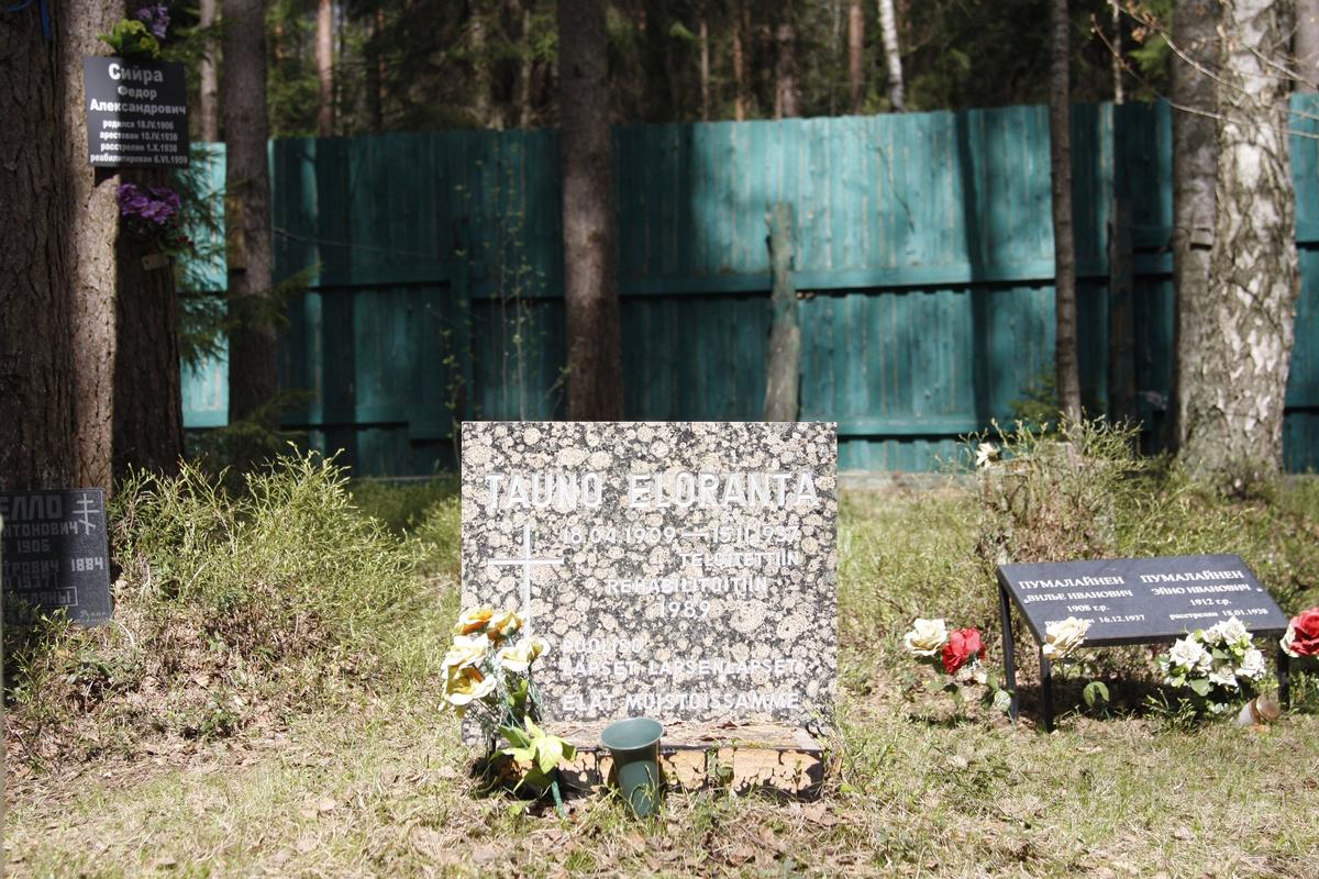 Символическое надгробие Т.А.Элоранта. Фото 15.08.2010