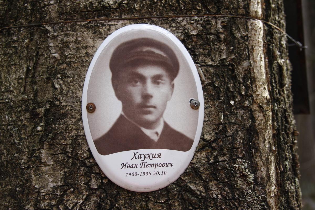 Памятная табличка И. П. Хаухии. Фото 18.05.2017