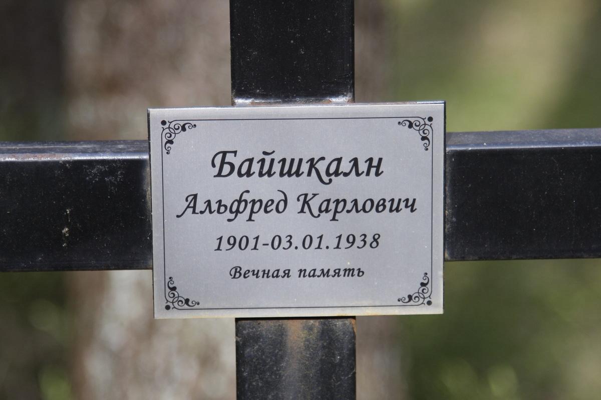 Памятный крест А. К. Байшкалну. Фото 18.05.2017