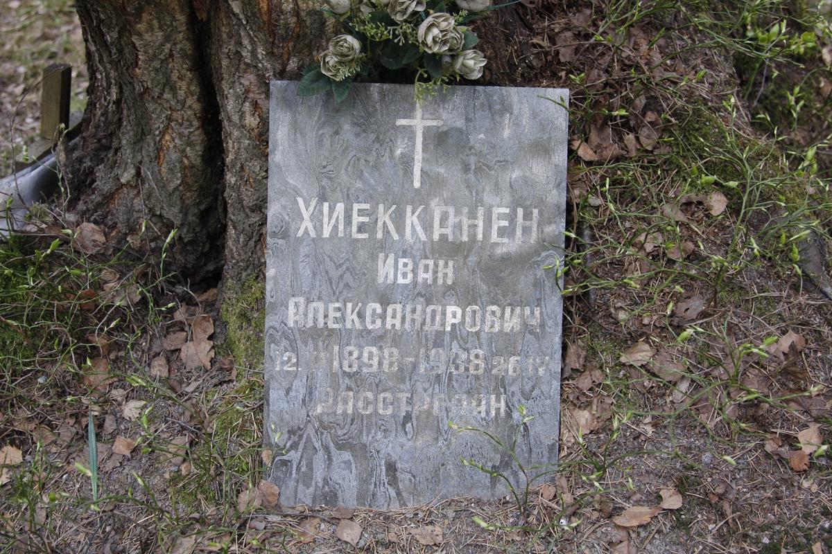 Памятный знак И. А. Хиекконену. Фото 18.05.2017