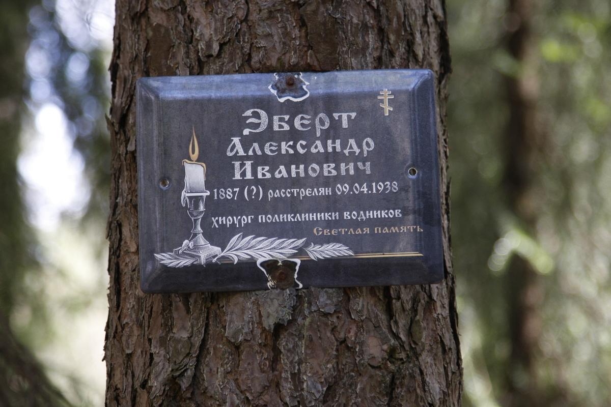 Памятная табличка А. И. Эберту. Фото 18.05.2017