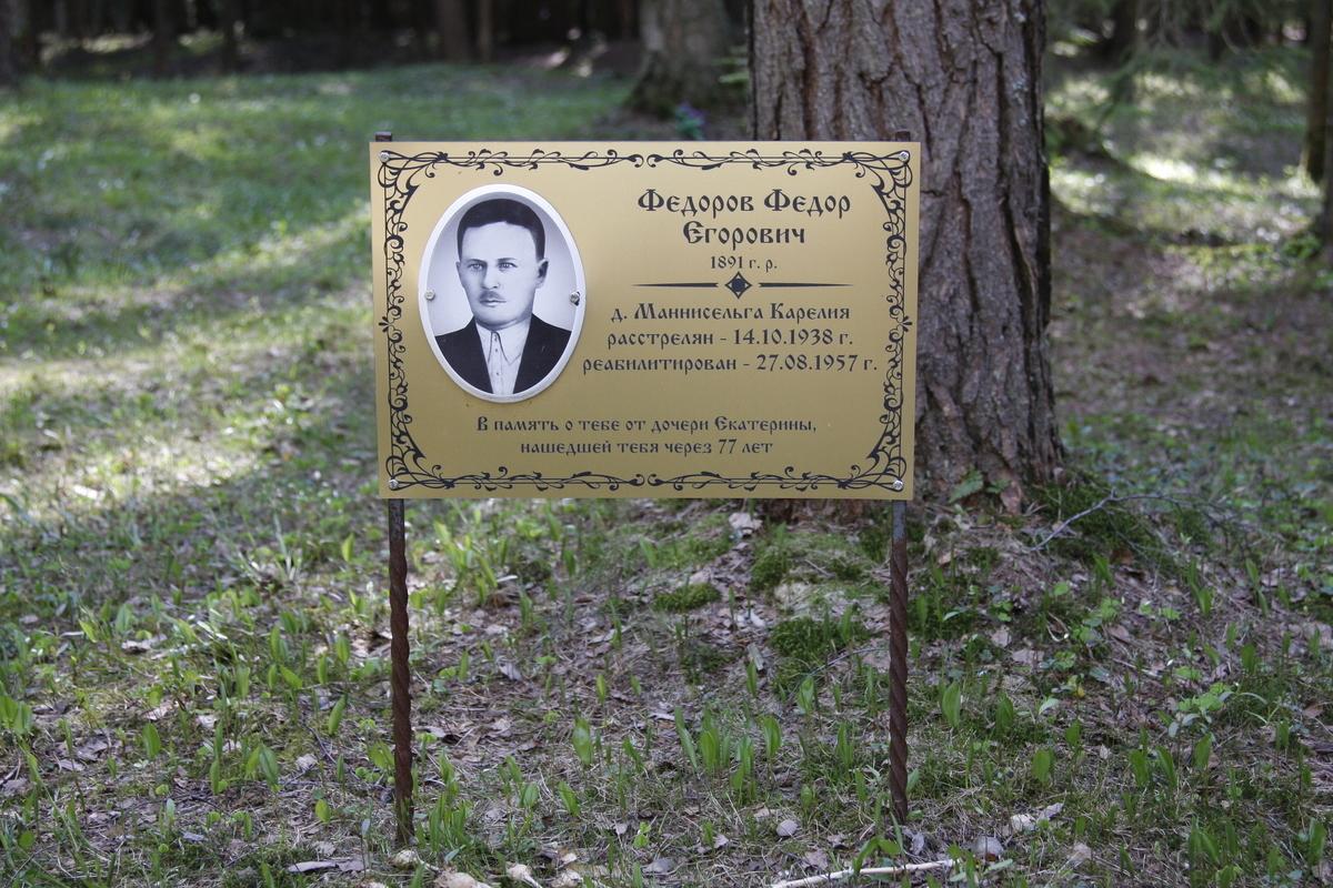 Памятная табличка Ф. Е. Федорову. Фото 18.05.2017