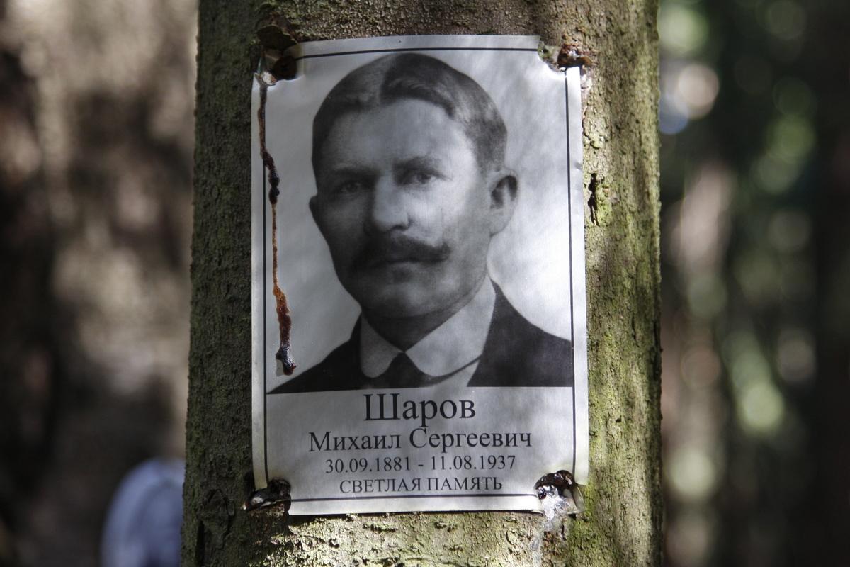 Памятная табличка М. С. Шарову. Фото 18.05.2017