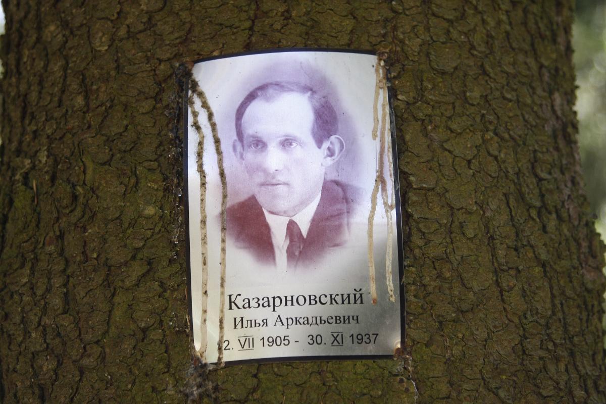 Памятная табличка И. А. Казарновскому. Фото 25.08.2007