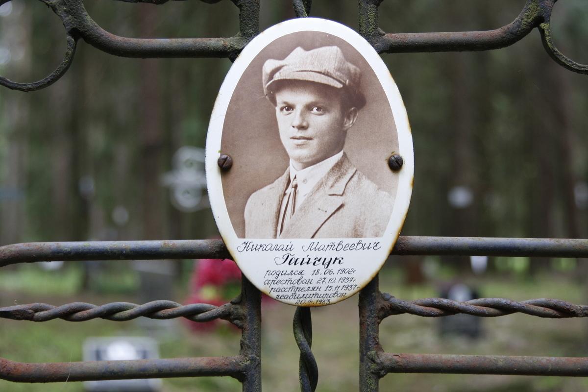 Памятный знак Н. М. Гайчуку. Фото 18.05.2017